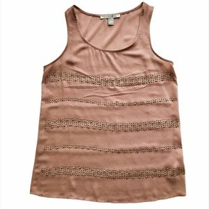 Forever 21 Nude decorative beaded tank. Sm/Med